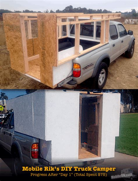 Camp Kitchen Designs by How To Build Your Own Homemade Diy Truck Camper Mobile