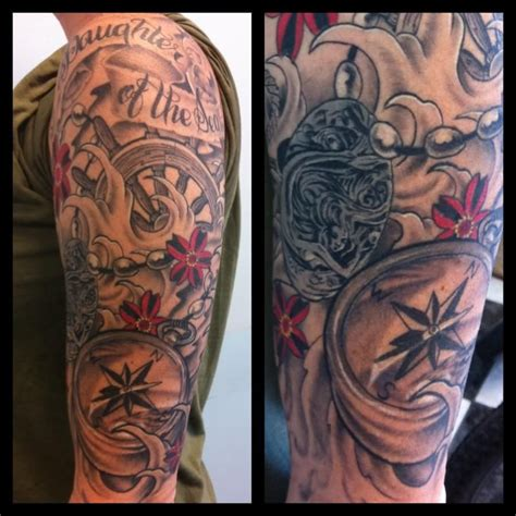 maritime tattoos nautical sleeve on anchor sleeve