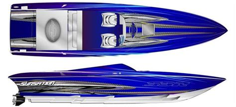 mariah boat graphics mitcher t painting new sunsation 36 ssr with twin 565s