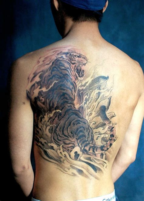 chronic tattoo chronic ink toronto tiger backpiece