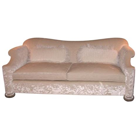Magnificent Deco Sofa With White Gold Bun Feet At 1stdibs