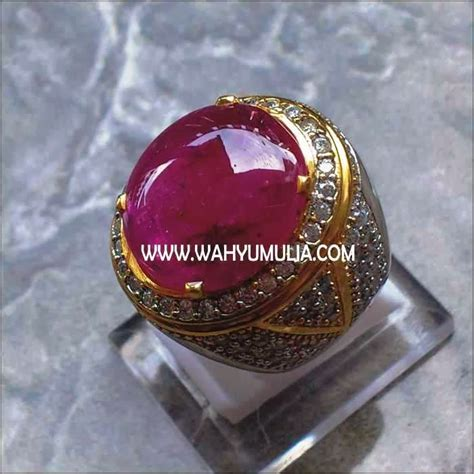Cincin Batu Kecubung Ukuran 16 Kode 01 1 batu permata ruby big size kode 130 wahyu mulia