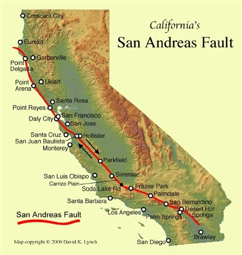 fault map of california information and resources about the san andreas fault