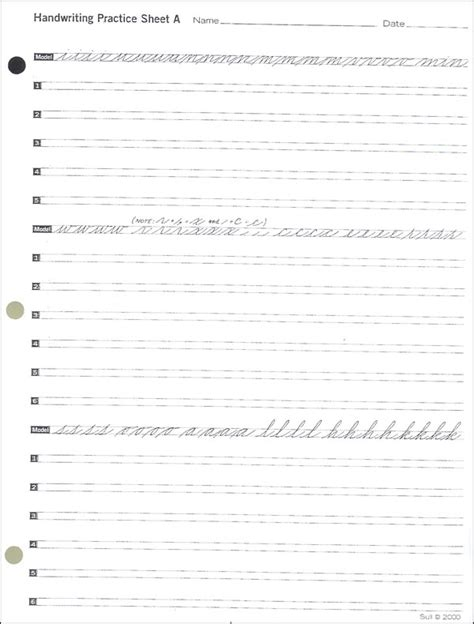 Spencerian Penmanship Worksheets by Spencerian Practice Set 058502 Details Rainbow