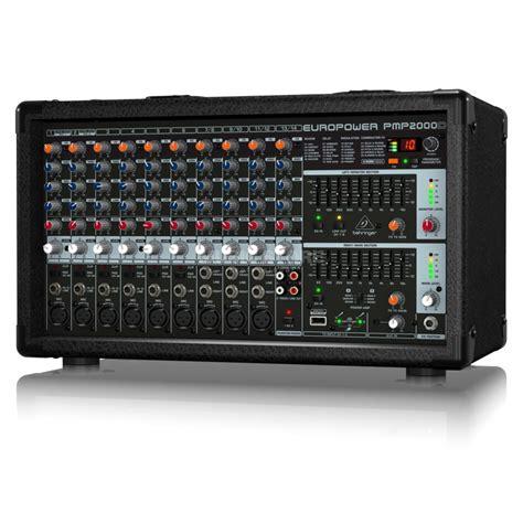 Power Mixer 14 Channel Behringer Europower Pmp 2000 D Original behringer pmp2000d europower 14 kanal powermixer