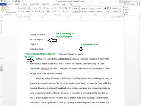 Name Of Book In Essay by Mla Formatting In Word And Other Helpful Hints Ela In Room 109