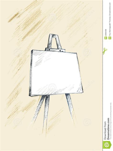 doodle board free easel sketch royalty free stock photos image 2096498