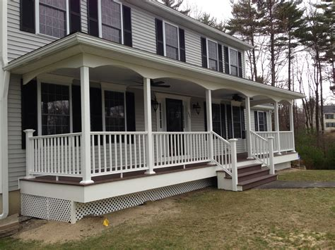 house porch manchester nh front porch is complete allen remodeling