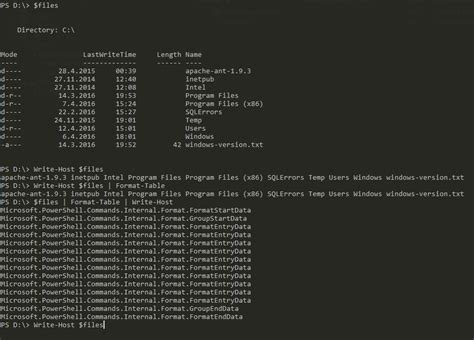 Powershell Format Table by Powershell How To Display Formatted Output With Write