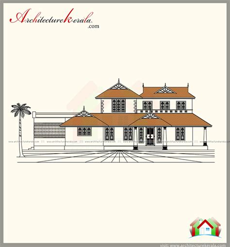 kerala home style 3 bedroom 2500 square feet kerala style house plan with three