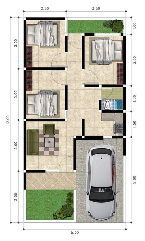 rumah minimalis denah rumah  kamar tidur  mushola