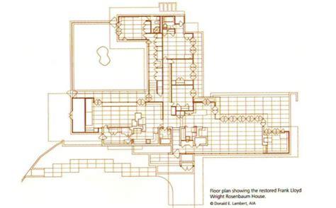 Rosenbaum House Floor Plan | rosenbaum house