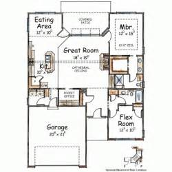 2 Bedroom 2 Bath Ranch Floor Plans by Ranch Style House Plans 1490 Square Foot Home 1 Story
