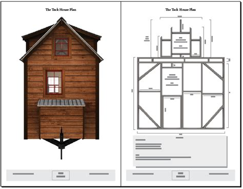 tiny house plans on trailer tiny tack house plans the tiny tack house