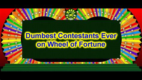 wheel of fortune hot contestant youtube dumbest contestants ever on wheel of fortune youtube
