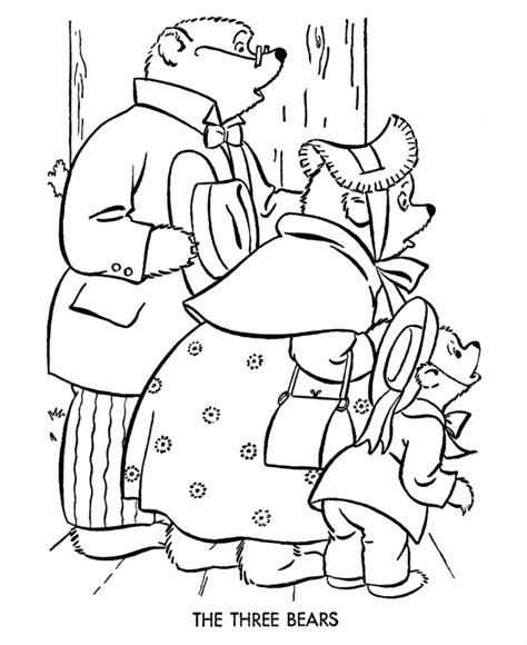 free goldilocks 3 bears coloring pages