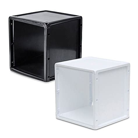 bathroom cube storage b in 174 plastic storage cube bed bath beyond
