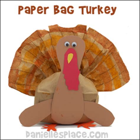 Brown Paper Bag Turkey Craft - thanksgiving crafts can make