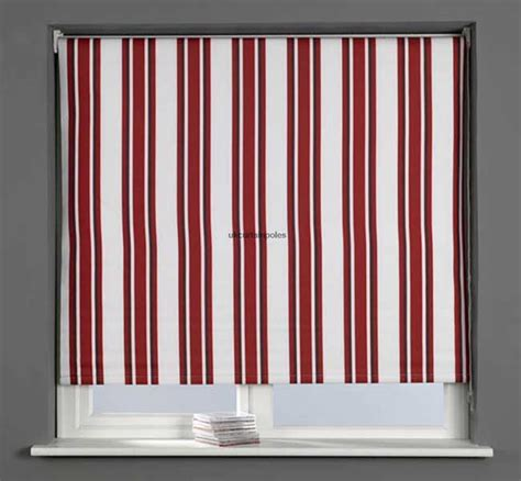 60cm curtain pole sunlover thermal blackout roller blind 60cm 2ft stripe red