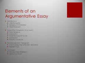 Elements Of Writing An Essay by Argumentative Writing Ppt