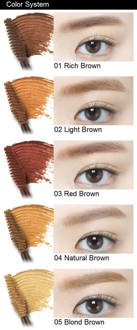 brow gel colors 25 best ideas about eyebrow tinting on korean