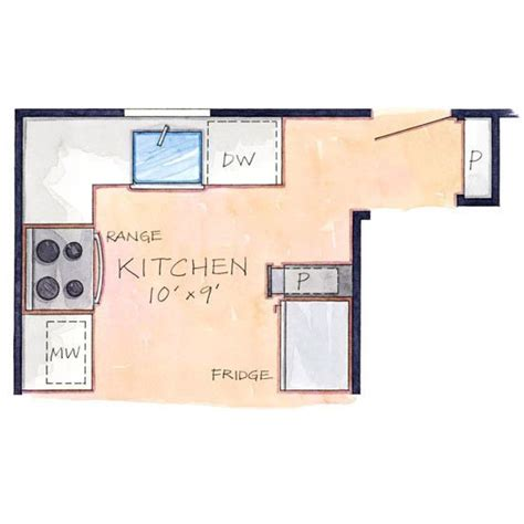 efficient kitchen layout tight efficient layout floor plan interior design