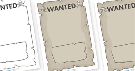 printable wanted poster for classroom twinkl resources gt gt create your own pirate wanted posters