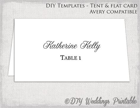 Wedding Tent Card Templates Word by Place Card Template Tent Flat Name Card Templates