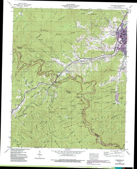 topographic map of carolina hazelwood topographic map nc usgs topo 35083d1