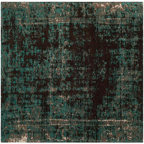 Teal And Brown Area Rugs Safavieh Classic Vintage Teal Brown 6 Ft X 6 Ft Square Area Rug Clv225a 6sq The Home Depot