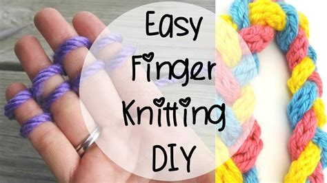 how to knit on your fingers how to finger knit episode 80