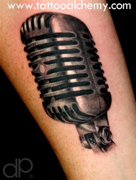old microphone tattoo designs vintage microphone tattoos www imgkid com the image