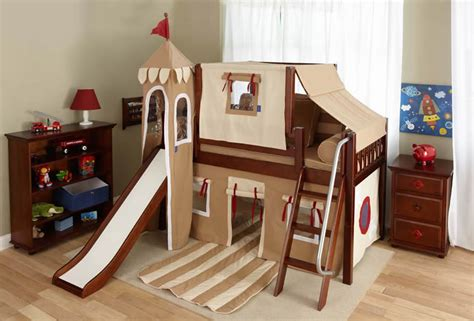Boys Castle Bunk Bed Boy S Castle Bed With Slide By Maxtrix Khaki 370