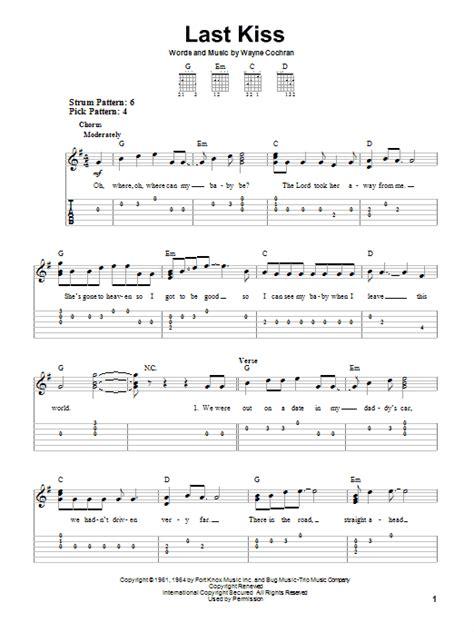 last kiss tutorial guitar last kiss by j frank wilson easy guitar tab guitar