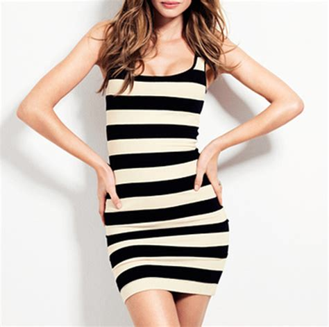 Dress Stripe black and white striped dress pjbb gown