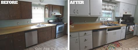painting laminate kitchen cabinets white junk i ve made how to paint laminate cabinets part
