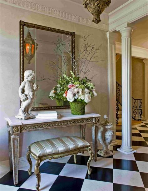 indoor foyer decorating ideas with unique sculpture
