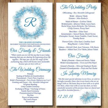 Best Wedding Ceremony Program Templates Products On Wanelo Winter Program Template