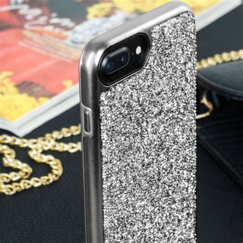 prodigee fancee iphone 7 plus glitter black silver