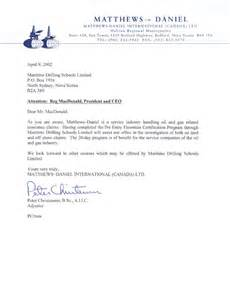 Certification Letter Knowing Person testimonials maritime drilling schools limited