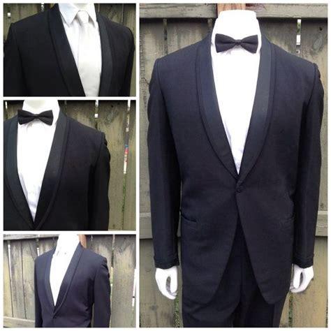 Picture Of 1950s Prom Tuxedo | vintage 1950 s men s tuxedo jacket classic satin shawl