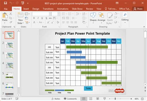 powerpoint project management template best gantt chart project management powerpoint templates