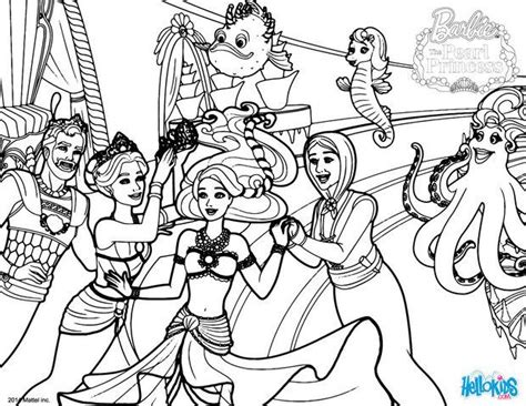 mermaid family coloring page royal mermaid family is happy coloring pages hellokids com