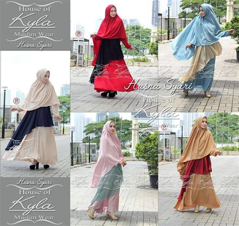 Khimar Crepe Busui Fit Xl supplier baju muslim terbaru