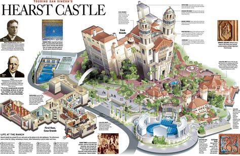 hearst castle floor plan travel scott brown graphics infographic pinterest