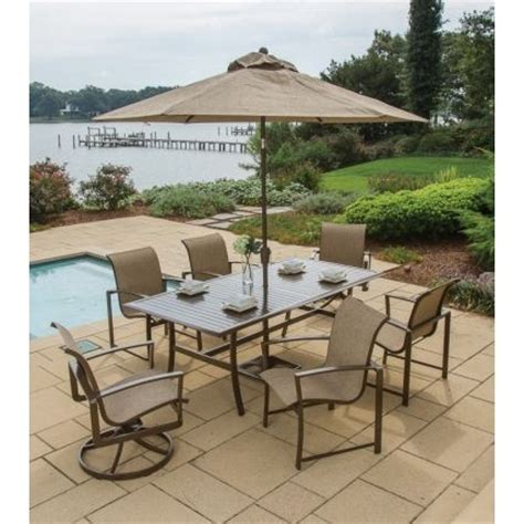 Agio Patio Dining Set Agio Quot Quot Collection 7 Patio Dining Set Patio Sets