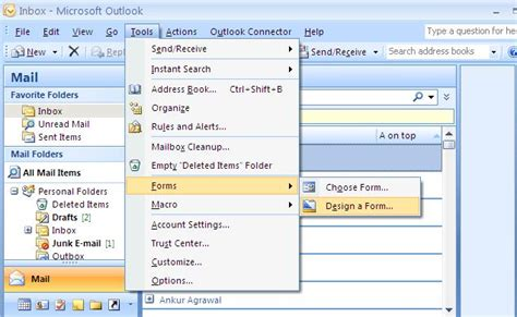 Outlook For Designers by Outlook Custom Forms In Vb Net