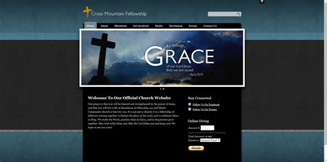 30 Best Church Website Templates For Ministry And Outreach Sharefaith Magazine Church Website Templates