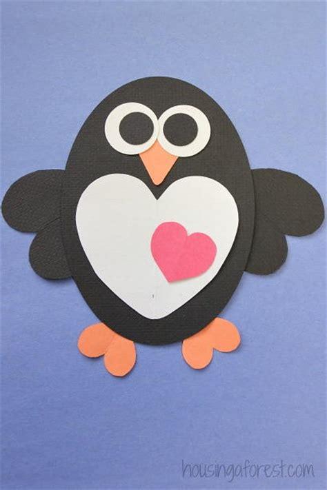 hearts  flutter penguin craft allfreekidscraftscom