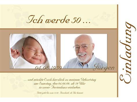 Geburtstagseinladungen Design Vorlagen Einladung 50 Geburtstag Fotokarte 10x15 Cm Braun Creme